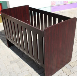 Large Wooden Cot Burgundy