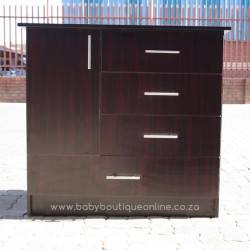 Standard Compactum - Large Bottom Drawer Burgundy