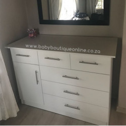Large Compactum - 3 Top Drawers White