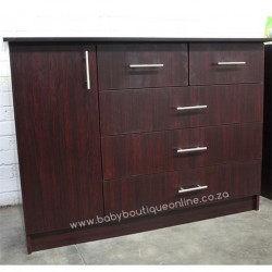 Large Compactum - Split Drawers Burgundy