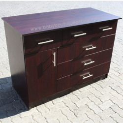 Large Compactum 3 Top Drawers Burgundy