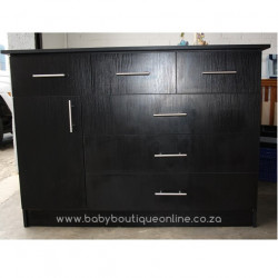 Large Compactum 3 Top Drawers Black