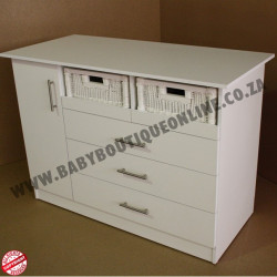 Large Compactum With Split Baskets White