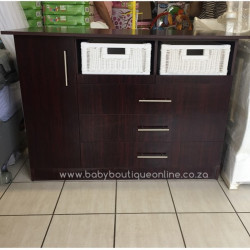 Large Compactum  Split Baskets Burgundy
