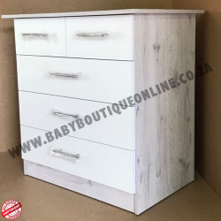 Standard Compactum With Split Top Drawer White & Nordic Ice