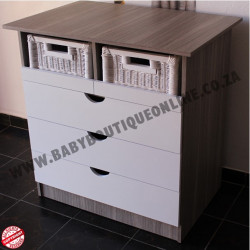 Standard Compactum With Split Baskets White & Cascade