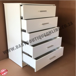 Chest of Drawers 5 Drawer MDF