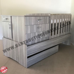 5-in-1 Cot Melamine Cascade (Drawers)