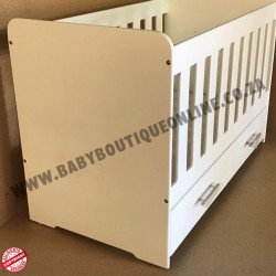 Wooden Cot with Drawer MDF