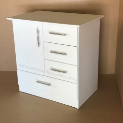 Standard Compactum - Large Bottom Drawer White Superwood