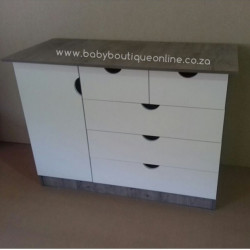 Large Compactum 5 Drawer White & Haven