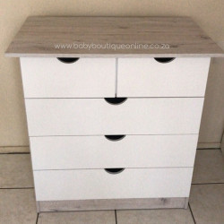 Standard Compactum With Split Top Drawer White & Nordic Ice - No Handles