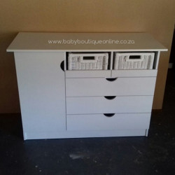 Large Compactum With Split Baskets White No Handles