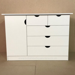 Large Compactum 5 Drawer - No Handles