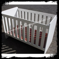 Large Wooden Cot White