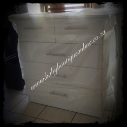 Standard Compactum With Split Top Drawer White