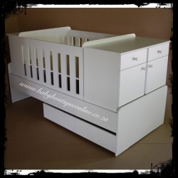5-in-1 Cot White Melamine